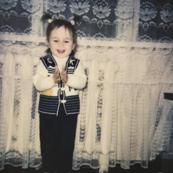 Dina as a kid