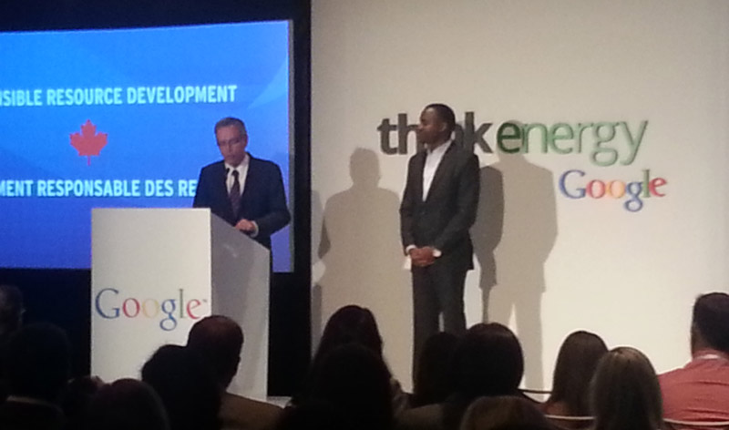 The Honourable Joe Oliver, Minister of Natural Resources at Google's Think Energy