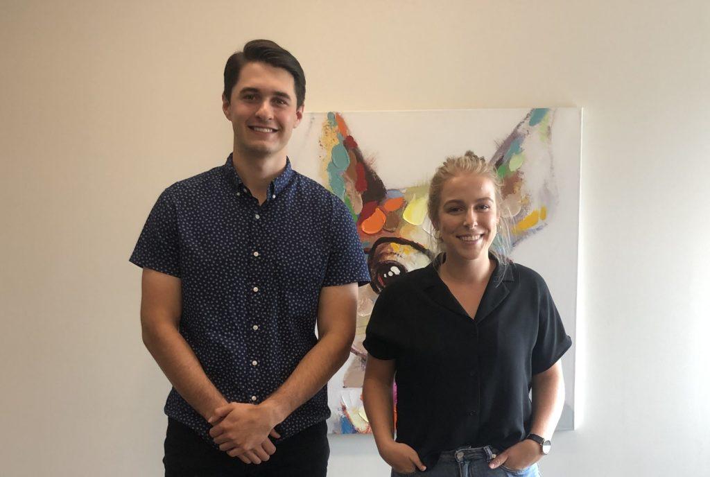 2019 Vovia Interns Evan and Kiana
