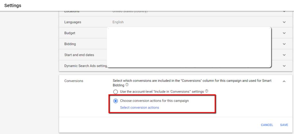 Google Ads Conversion Set setup